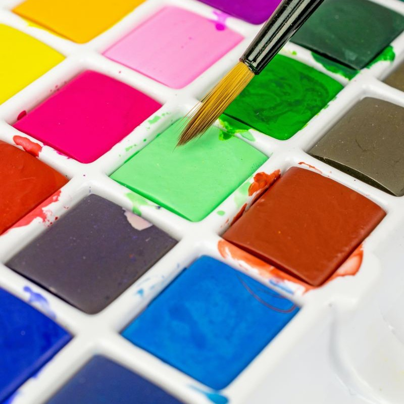 Watercolour palette to illustrate colour choice for financial adviser and IFA websites